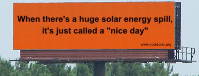 solar energy spill billboard