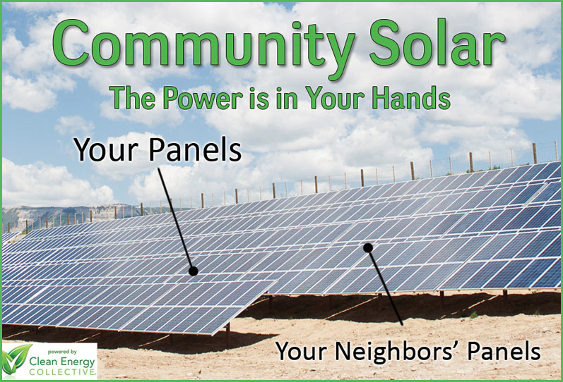 Community solar panels (Clean Energy Collective)