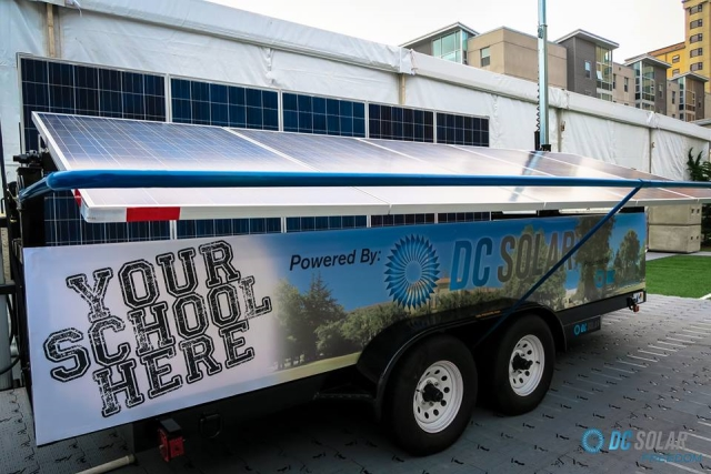 DC Solar mobile generator